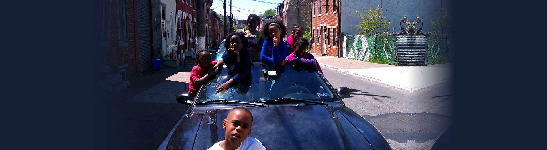 students in the car